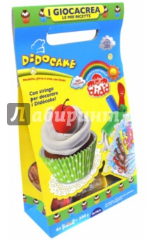 Набор для лепки Dido Cake. Паста для моделирования с аксессуарами для создания кексов (399100)Лепим из пасты<br>Увлекательный набор для лепки от торговой марки Dido вызовет восторг у вашего малыша. Комплект включает в себя 8 брусков массы для лепки, стек, скалку для раскатывания пластилина, кондитерский шприц, бумажные стаканчики и декоративные элементы. С помощью замечательного набора маленький кондитер сможет вылепить торты и пирожные и украсить их по своему усмотрению. Брусочки пластилина ярких цветов по фактуре напоминают тесто, получившиеся кондитерские изделия будут выглядеть реалистично. Занимательный набор надолго увлечет вашего малыша и поможет ему проявить творческий потенциал и фантазию.<br>В наборе:<br>6 брусков пластилина;<br>кондитерский шприц;<br>скалка;<br>стек;<br>3 карты с декоративными элементами;<br>4 бумажных стаканчика.<br>Упаковка: картонная коробка с подвесом.<br>Произведено в Италии.<br>