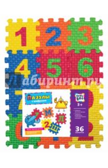 Пазлы с цифрами (36 элементов) (62689)Пазлы (15-50 элементов)<br>Развиваем воображение и пространственное мышление.<br>Формируем цветовую чувствительность.<br>Изучаем осн6овы математики.<br>Комплектность: 3 листа, 36 элементов.<br>Не рекомендовано детям младше 3-х лет. Содержит мелкие детали.<br>Сделано в Гонконге.<br>
