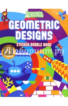 Geometric Designs: Sticker Doodle BookЛитература на иностранном языке для детей<br>Scholastic Activities - a brand-new range of full-colour sticker-activity books for ages 3+, 5+ and 7+. Collect them all! A fun-filled colour sticker activity book full of stickering, doodling and colouring pages, perfect for children aged 7+ Geometric Designs lets you complete your very own beautiful patterns and fun scenes. Filled with stunning, detailed and geometric patterns and landscapes, children can use stickers and felt-tip pens to add detail and let the pattern-maker inside get imaginative. Includes over 200 reusable stickers in the book to play with again and again.<br>