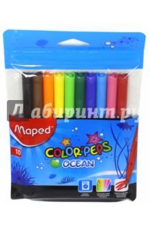 """Фломастеры """"Ocean"""" (10 цветов) (845724) MAPED"""