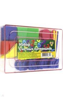 Набор для обучения Счетные материалы (СМ-1)Веера, счетные палочки<br>Набор счетных материалов.<br>В наборе: цифры, геометрические фигуры, палочки.<br>Материал: пластмасса.<br>Упаковка: пластиковый бокс.<br>Сделано в России.<br>