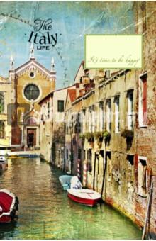 Блокнот Венецианские каналы, А5Блокноты большие Линейка<br>Удобные блокноты-тетради, с оригинальными акварельными обложками. Удобные линеечки и небольшие зарисовки внутри помогут вам сохранить все самые важные мысли и мечты на бумаге.<br>