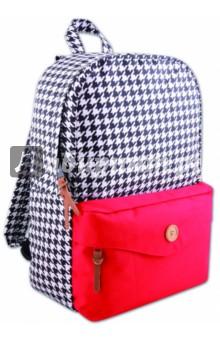 Рюкзак молодежный Модный принт+красный (40401)Рюкзаки школьные<br>Рюкзак молодежный.<br>Лямки с регулировкой.<br>Накладной карман.<br>Размер: 40х28х12 см.<br>Материал: полиэстер 100%.<br>Сделано в Китае.<br>