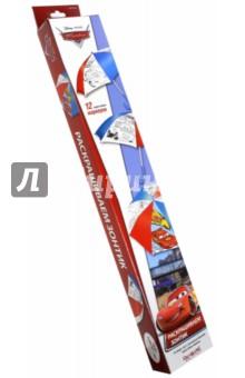 Набор для раскрашивания зонтика Тачки 2. Молния (01336)Роспись по ткани<br>Придумай расцветку для своего зонтика и раскрась яркими маркерами!<br>В наборе: зонтик с контурным рисунком, 12 водостойких маркеров.<br>Упаковка: картонная коробка с подвесом.<br>Материал: полиэстер, металл, пластмасса.<br>Для детей от 4 лет.<br>Сделано в Китае.<br>