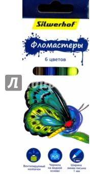 "Фломастеры ""Бабочки"" (6 цветов) (867200-06) Silwerhof"