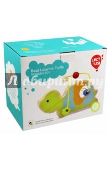 Лабиринт Черепаха (LL126)Другие игрушки для малышей<br>Зверята из жаркой Африки приготовили для вашего малыша необычный сюрприз - лабиринт из бус! С этой игрушкой ребенка ждёт двойное развлечение - яркие и дружелюбные фигурки познакомят его с веселыми обитателями саванны, а игры с разноцветными бусинками разовьют координацию, восприятие цвета и пространственное мышление. Игрушки легко помещаются в детскую руку и хорошо катаются по любой поверхности.<br>Материал: дерево.<br>Упаковка: картонная коробка.<br>Для детей от 3 лет.<br>Сделано в Китае.<br>