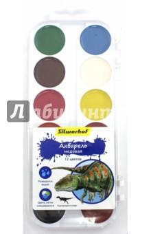 """Акварель медовая """"Динозавры"""" (12 цвета) (961125-12) Silwerhof"""