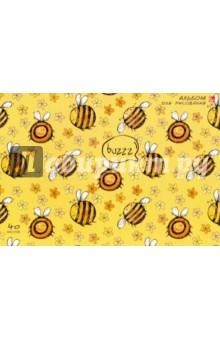 """Альбом для рисования """"Забавные пчелки"""" (40 листов, склейка) (АБ401423) Эксмо-Канц"""