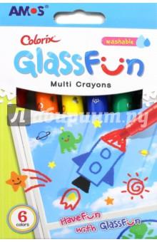 Мелки Колорикс, для гладких поверхностей. 6 цветов (22253)Мелки школьные<br>Мелки Колорикс, для гладких поверхностей. <br>6 цветов: красный, оранжевый, желтый, синий, зеленый, черный.<br>Упаковка: картонная коробка с подвесом.<br>Подходят для рисования на стекле, кафеле, зеркале.<br>Смываются водой. <br>Для детей от трех лет.<br>