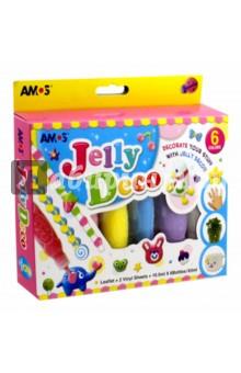 Объемные краски Джелли, 6 цветов (22916)Другие виды красок<br>Объемные краски Джелли, 6 цветов по 10,2 мл и два виниловых листа в наборе.<br>Идеально подходит для создания детской бижутерии и декора.<br>Не оставляет следова на поверхностях после отклеивания.<br>Упаковка: картонная коробка с подвесом. <br>Для детей от трех лет. <br>Изготовитель: Корея.<br>