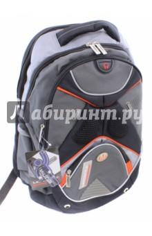 Рюкзак Motostyle (MT16-BP-07)Рюкзаки школьные<br>Рюкзак школьный.<br>Рюкзак предназначен для хранения и транспортировки школьных принадлежностей.<br>В рюкзаке: <br>- 2  отделения на молнии<br>- 2 накладных карманы на молнии<br>- уплотненные лямки и спинка <br>Спинка со смягчающей прокладкой и удобные лямки, позволяющие регулировать длину.<br>Состав: внешние поверхности, подкладка - полиэстер; уплотнители - поролон; элементы отделки - пластик, металл.<br>Сделано в Китае.<br>