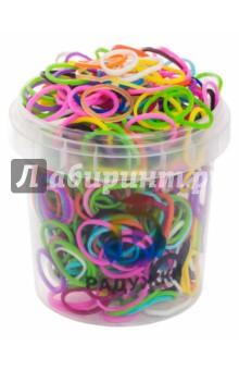 Резинки для плетения, в стакане, 300 штук, Мультицвет (10-25)Плетение из резиночек<br>Резинки для плетения.<br>В комплекте: 300 резинок, s-образные клипсы, крючок.<br>Разные цвета.<br>Материал: полимерные материалы.<br>Упаковка: пластмассовый стакан.<br>