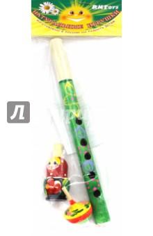 Набор музыкальный: дудка маленькая, свистулька, волчок (Д-679)Музыкальные инструменты<br>Набор музыкальный.<br>Цель музыкального наборе: развитие координации движений, воспроизведение шумовых эффектов.<br>Комплектность: 1 дудка маленькая, 1 волчок, 1 свистулька.<br>Материал: дерево.<br>Упаковка: пакет с подвесом.<br>Для детей от 3 лет.<br>Сделано в России.<br>