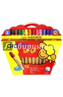 Карандаши цветные Be-Be (12 цветов, с точилкой) (466500)Цветные карандаши 12 цветов (9—14)<br>Карандаши цветные.<br>Утолщенные карандаши, идеальный выбор для самых маленьких для занимательного рисования, ярких цветов, легко разложатся Вашим ребенком в нужном порядке.<br>Очень легко смываются с рук и тканей, безопасность доказана дерматологическими испытаниями, легко чинятся, что по достоинству оценят мамы.<br>В наборе 12 цветов, точилка.<br>Для детей от 3-х лет, или ранее под присмотром родителей.<br>Сделано в Китае.<br>