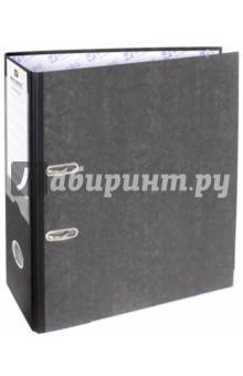 Папка-регистратор (А4, черный корешок) (221987)Папки-регистраторы<br>Папка с арочным механизмом.<br>Формат: А4.<br>Механизм на 2  арках <br>Цвет: серый. <br>Материал: картон, металл.<br>Сделано в Германии.<br>