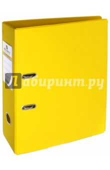 Папка-регистратор (70 мм, желтая) (222650)Папки-регистраторы<br>Папка с арочным механизмом.<br>Формат: А4.<br>Механизм на 2  арках <br>Цвет: желтый. <br>Материал: картон, металл.<br>Сделано в Германии.<br>
