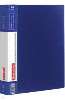 Папка 2 кольца синяя (180 листов) (221792)Папки на кольцах<br>Папка 2 кольца.<br>Цвет: синий.<br>180 листов.<br>Материал: пластик.<br>Сделано в Германии.<br>