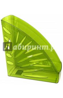 Лоток вертикальный для бумаг (зеленый) (ЛТ357) СТАММ