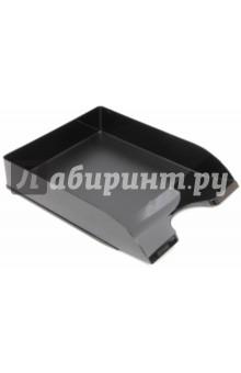 Лоток горизонтальный для бумаг (черный) (ЛТ651) СТАММ
