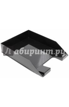 Лоток горизонтальный для бумаг (черный) (ЛТ851) СТАММ