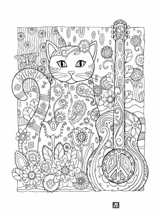 Мои раскраски кот том