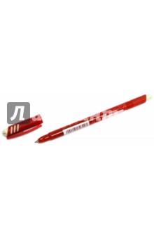 Ручка шариковая со стираемыми чернилами, красная (826102)Ручки шариковые простые цветные<br>Ручка шариковая со стираемыми чернилами.<br>Цвет чернил: красный.<br>Корпус пластиковый с резиновыми вставками.<br>