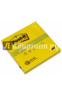 Блок самоклеящийся желтый неон (76х76 мм, 100 листов) (R330-ONY)Бумага для записей с липким слоем<br>Сменный Z-блок подойдет для установки в любые Z-диспенсеры Post-it. Клеевая система Post-it обеспечивает крепление стикеров к бумаге любого типа.<br>Сделано в России.<br>