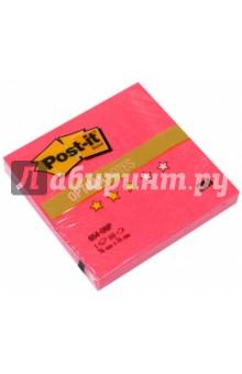 Блок самоклеящийся маковый неон (76х76 мм, 100 листов) (654-ONP) POST-IT