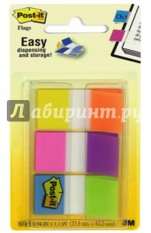 Закладки самоклеящиеся пластиковые (25 мм, 6 цветов, 10 листов) (680-EG-ALT) POST-IT