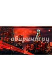 """Планинг недатированный карманный """"городской стиль. Огни ночного города"""" (А6, 64 листа) (ПКЛ1666409) Эксмо-Канц"""