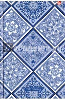 """Ежедневник недатированный """"Орнамент. Голубой узор"""" (твердая обложка, А5) (ЕЖ17511205) Эксмо-Канц"""