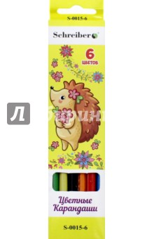Карандаши цветные пластиковые (6 цветов) (TZ 5951-6) TUKZAR