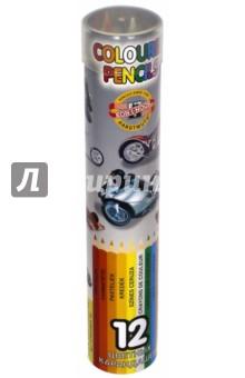 Карандаши KiN (12 цветов, в металлическом пенале) (3576/12)Цветные карандаши 12 цветов (9—14)<br>Карандаши цветные.<br>Количество цветов: 12.<br>Предназначены для рисования.<br>Сделано в Чешской республике.<br>