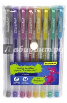 Набор гелевых ручек Джинсовая коллекция. Металлик, 8 цветов (016094-08)Наборы гелевых ручек<br>Набор гелевых ручек.<br>8 цветов.<br>Предназначены для письма.<br>В наборе 8 цветов с эффектом Металлик.<br>Пишущий узел: 1 мм.<br>Пластиковый корпус.<br>Состав: пластик, полистирол, карбид вольфрама, чернила.<br>Сделано в Китае.<br>