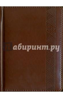"""Ежедневник датированный на 2017 год """"Пристин"""" (темно-коричневый, А6) (42401) Феникс+"""