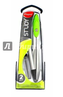 Циркуль с механическим карандашом Study (119430)Циркули<br>Циркуль из цинкового сплава.<br>С эргономичной головкой.<br>С механическим карандашом 0,5 мм.<br>В пластиковом футляре.<br>В комплекте пенал с 10 дополнительными грифелями.<br>Цвет: серебряный.<br>Сделано в Китае.<br>