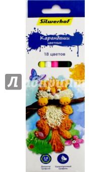 "Карандаши ""Пластилиновая коллекция"" (18 цветов) (134195-18) Silwerhof"