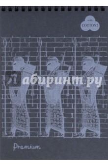 """Блокнот """"Premium Ground. Черный"""" (30 листов, А5, пружина) (БPr/GN) Лилия Холдинг"""