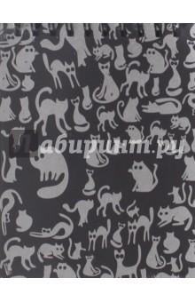 Блокнот Ночные коты (40 листов, 145х180) (БЛ-3494)Блокноты большие нелинованные<br>Блокнот.<br>Формат:  145х180<br>Количество листов: 40<br>Внутренний блок: бумага офсетная.<br>Крепление: спираль. <br>Произведено в России.<br>