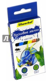 """Восковые мелки """"Динозавры"""" (6 цветов) (884170-06) Silwerhof"""