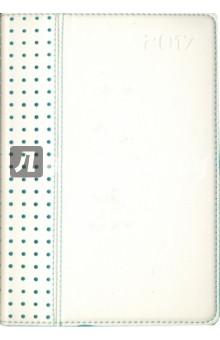 """Ежедневник датированный на 2017 год """"Сариф"""" (А5, белый/бирюзовый) (41640) Феникс+"""