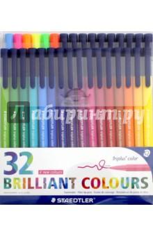 Набор фломастеров Triplus Сolor (32 цвета) (323TB32)Фломастеры более 30 цветов<br>Фломастеры.<br>Количество цветов: 32.<br>Линия письма: 1,0 мм.<br>Трехгранная форма. <br>Яркие цвета.<br>Сделано в Германии.<br>