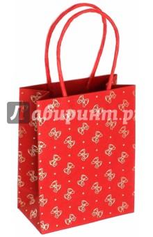 "Пакет подарочный ""Бантики"" (11х6х14 см) (40105) Феникс+"