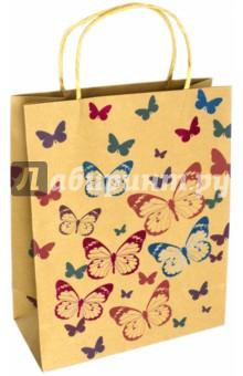 """Пакет подарочный """"Цветные бабочки"""" (26х12х32 см) (40115) Феникс+"""