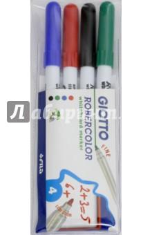 Набор маркеров для белой доски, 4 цвета, круглые, тонкие (413100) Fila
