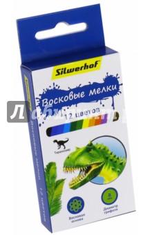 """Восковые мелки """"Динозавры"""" (12 цветов) (884170-12) Silwerhof"""