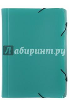 """Папка-портфель на резинке """"Basic"""", А4, зеленый (255078-03)"""