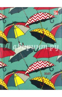 """Ежедневник недатированный """"Разноцветные зонтики"""", 128 листов (ЕЖЛ17612807) Эксмо-Канц"""