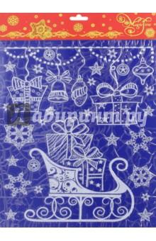 Украшение новогоднее оконное (41755)