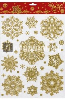 Украшение новогоднее оконное (38637)Аксессуары для праздников<br>Новогоднее оконное украшение.<br>Декорировано глиттером.<br>Размер: 30х38 см.<br>Предназначено: декор.<br>Материал: ПВХ пленка.<br>Сделано в Тайване.<br>